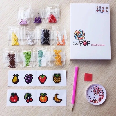 Diamond Painting Stickers - Set mini Fruit - 8 stuks