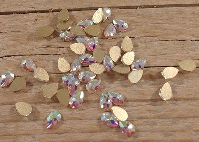 Bolle Druppel 6 mm Crystal AB Rhinestones figuren Superior Glamour kwaliteit