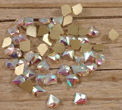 Diamantje 5 mm Crystal AB Non hotfix Rhinestones figuren Superior Glamour kwaliteit
