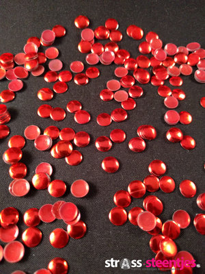 Hotfix Nailheads Kleur Rood rond 3 mm