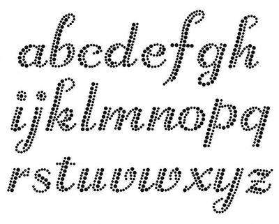 Hotfix Patroon Alfabet sierlijke letters