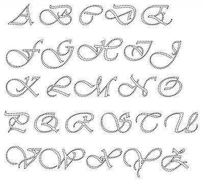 Hotfix Patroon Alfabet sierlijke schuine hoofdletters