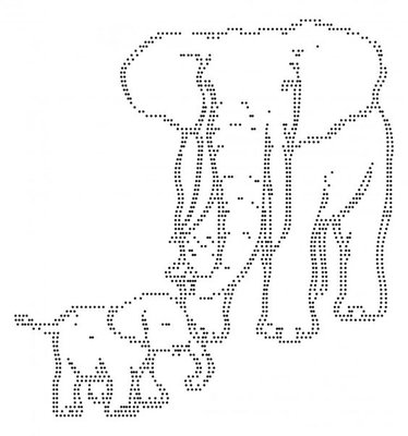 Hotfix Patroon - Olifant met jong