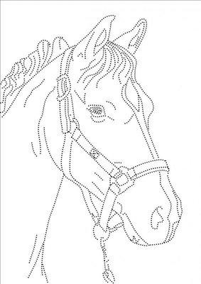 Hotfix Patroon - Paard met halster
