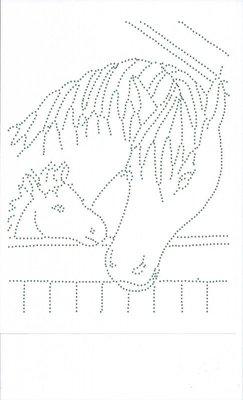 Hotfix Patroon - Paard met veulen