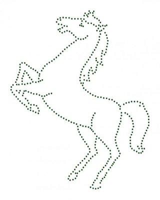 Hotfix Patroon - Steigerend paard