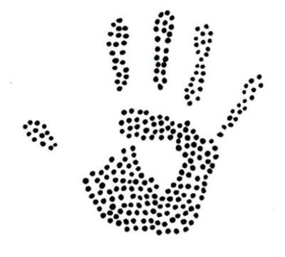 Hotfix Patroon - Handafdruk