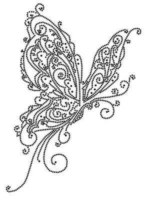 Hotfix Patroon - Sierlijke vlinder