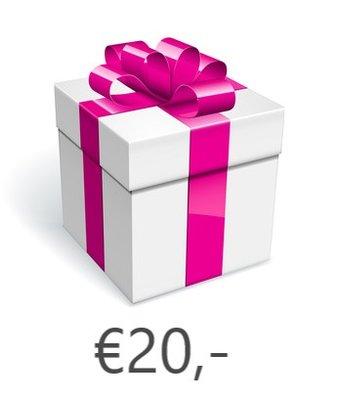 Strass-steentjes Cadeaubon €20,-