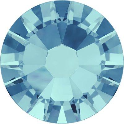 Swarovski hotfix steentjes kleur Aquamarine (202) SS30 UITVERKOOP