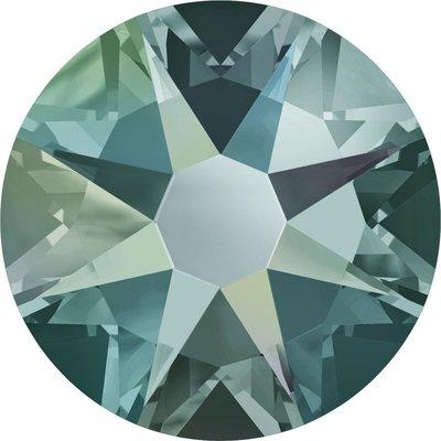 Swarovski hotfix steentjes kleur Black Diamond Shimmer (215SHIM) SS34