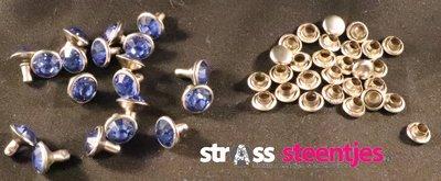 Studs met Strass Sapphire 8 mm