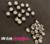 Studs met Strass (Acryl) - Parelgrijs 6 mm