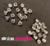 Studs met Strass (Acryl) - Crystal 6 mm