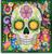 Diamond Painting pakket - Doodshoofd Flower Power met speciale vormstenen 25x25 cm (Special)