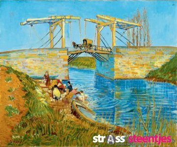 Diamond Painting pakket - Van Gogh De brug van Langlois 60x50 cm (full)