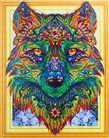 Diamond Painting pakket - Wolf met speciale vormstenen 40x50 cm (Special)