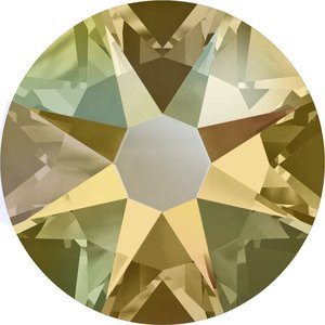 Swarovski non-hotfix steentjes kleur Light Colorado Topaz Shimmer (246SHIM) SS30
