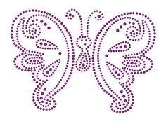 Hotfix Patroon - Vlinder met gezichtje