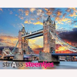 Diamond Painting pakket - Tower Bridge in London 60x50 cm (full)