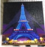 Diamond Painting met LED-verlichting - Verlichte Eiffeltoren bij nacht 30x40 cm (full)