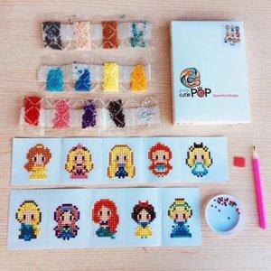 Diamond Painting Stickers - Set mini prinsessen - 10 stuks