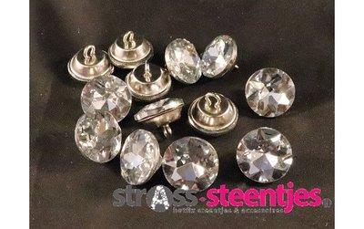 Naaiknopen 18 mm crystal