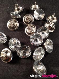 naaiknopen 16 mm crystal