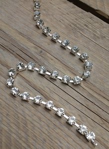 Strassketting 8 mm Crystal Silver Cup