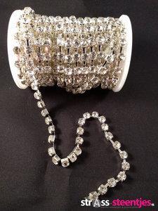 strasskettingen 6mm silver cup crystal