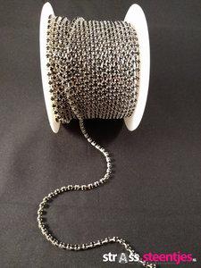 strasskettingen ss 10 silver cup black