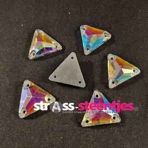 Naaistenen driehoek Kleur Crystal AB 16mm