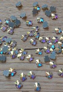 Beertje 7 mm Crystal AB Hotfix Rhinestones Superior kwaliteit