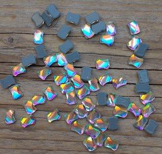 Getailleerd Vierkantje 7 mm Crystal AB Hotfix Rhinestones Superior kwaliteit