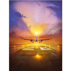 Diamond Painting pakket -  Opstijgend vliegtuig 45x60 cm