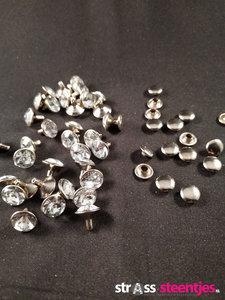 Studs met Strass Crystal 9 mm