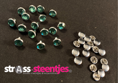 Studs met Strass (Acryl) - Erinite 6 mm