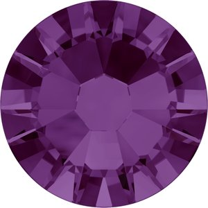 Swarovski hotfix steentjes kleur Amethyst AB (204 AB) SS 20