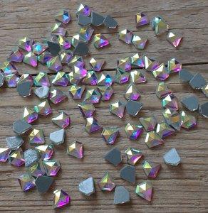Diamantje 7 mm Crystal AB Hotfix Rhinestones Superior kwaliteit