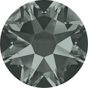 Swarovski hotfix steentjes kleur Black Diamond (215) SS34