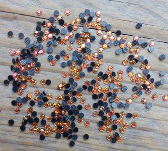 Hotfix steentjes Budget kwaliteit SS 6 Kleur Orange AB