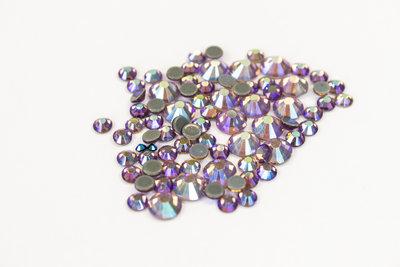 Amethyst AB SS 6 Superior Glamour kwaliteit Hotfix steentjes