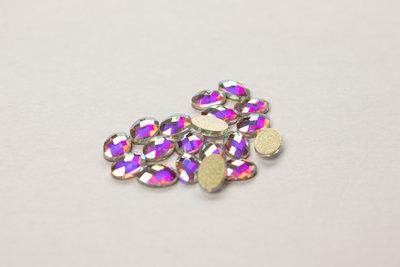 Bolle Ovaal 6 mm Crystal AB Rhinestones figuren Superior Glamour kwaliteit