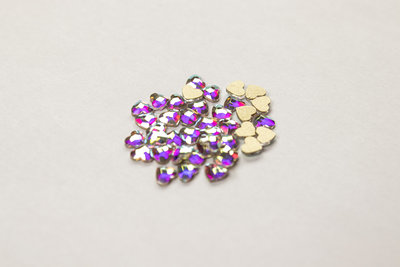 Hartje 4 mm Crystal AB Non hotfix Rhinestones figuren Superior Glamour kwaliteit