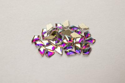 Hoekige Druppel 6 mm Crystal AB Rhinestones figuren Superior Glamour kwaliteit