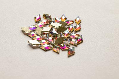 Ruitje 7 mm Crystal AB Non hotfix Rhinestones figuren Superior Glamour kwaliteit