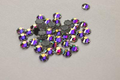 Bloemetje 5 mm Crystal AB Hotfix Rhinestones Superior kwaliteit