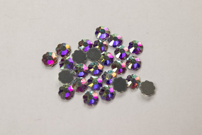 Bloemetje 6 mm Crystal AB Hotfix Rhinestones Superior kwaliteit