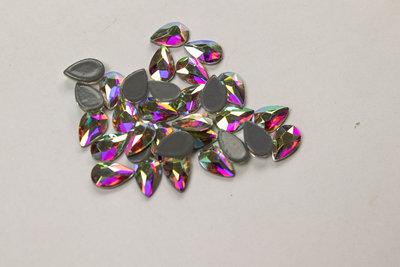 Bolle Druppel 5 mm Crystal AB Hotfix Rhinestones Superior kwaliteit