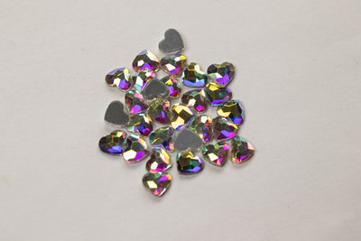 Hartje 6 mm Crystal AB Hotfix Rhinestones Superior kwaliteit